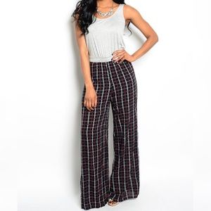 Sale Plaid Jumpsuit Grey Black Red Colors